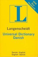 Langenscheidt universal Danish dictionary