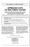 International Journal of Systematic Bacteriology