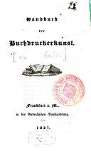 Handbuch der Buchdruckerkunst