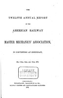 Report of Proceedings of the     Annual Convention of the American Railway Master Mechanics  Association