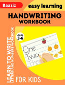 Handwriting Workbook for Kids Ages 3 6