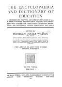 The Encyclopaedia and Dictionary of Education