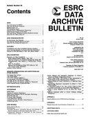 ESRC Data Archive Bulletin