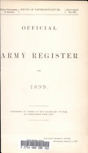 Official Army Register for 1899