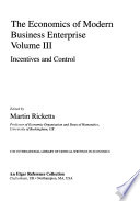 The Economics of Modern Business Enterprise