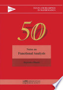 Notes on Functional Analysis