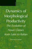 Dynamics of Morphological Productivity