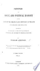 Principles Of Social And Political Economy Etc