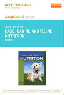 Canine and Feline Nutrition Pageburst on Kno Retail Access Code