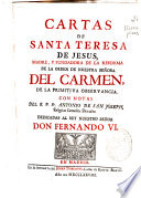 Cartas de Santa Teresa de Jesus ...