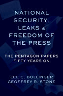 National Security, Leaks and Freedom of the Press Pdf/ePub eBook