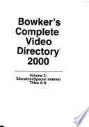 Bowker's Complete Video Directory 2000