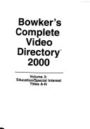 Bowker s Complete Video Directory 2000