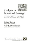Analyses in Behavioral Ecology