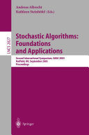 Pdf Stochastic Algorithms: Foundations and Applications Telecharger