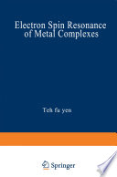 Electron Spin Resonance of Metal Complexes