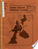 Daniel Boone National Forest N F Proposed Plan