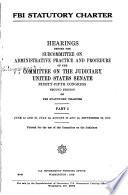 FBI Statutory Charter