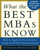 Pdf What the Best MBAs Know Telecharger