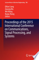Proceedings of the 2015 International Conference on Communications  Signal Processing  and Systems