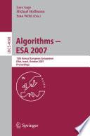 Algorithms   ESA 2007