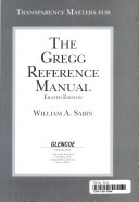 Transparency Masters for The Gregg Reference Manual, Eighth Edition