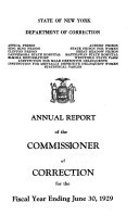 Annual Report of the Commissioner of Correction for the Fiscal Year Ending
