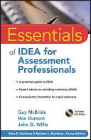Essentials of IDEA for Assessment Professionals