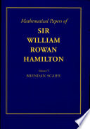 The Mathematical Papers of Sir William Rowan Hamilton: Volume 4, Geometry, Analysis, Astronomy, Probability and Finite Differences, Miscellaneous