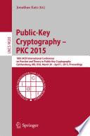 Public Key Cryptography Pkc 2015