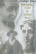Monologues and Scenes for Lesbian Actors