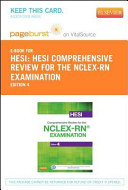 Hesi Comprehensive Review for the NCLEX RN Examination Pageburst E book on Vitalsource   Evolve Access Retail Access Cards