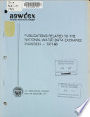Publications Related To The National Water Data Exchange Nawdex 1971 86