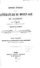 Histoire de la littérature latine chrétienne, depuis les origines jusqu'à Charlemagne