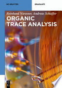 Organic Trace Analysis Book