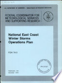 National East Coast Winter Storms Operations Plan Book