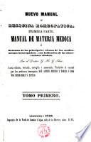 Nuevo manual de medicina homeopatica