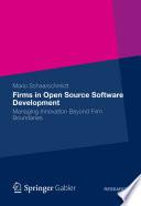 Firms In Open Source Software Development Book PDF
