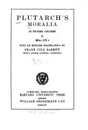 Plutarch s Moralia  How to profit by one s enemies