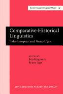 Pdf Comparative-Historical Linguistics Telecharger