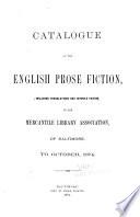 Catalogue of the English Prose Fiction
