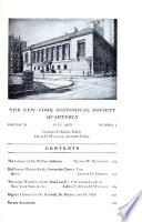 New York Historical Society Quarterly
