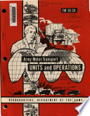 Army motor transport units and operations