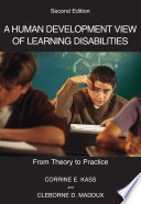 A Human Development View of Learning Disabilities