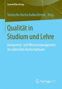 Qualität in Studium und Lehre