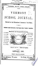 Vermont School Journal and Family Visitor Book