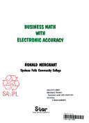 Business Math with Electronic Accuracy