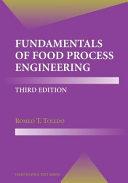 Fundamentals of Food Process Engineering Book