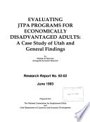 Evaluating JTPA Programs for Economically Disadvantaged Adults
