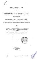 Repertorium der verhandelingen en bijdragen, betreffende de geschiedenis des vaderlands, in mengelwerken en tijdschriften tot op 1860 verschenen
